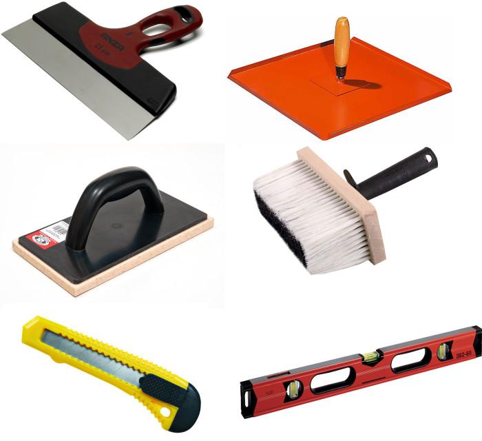 Набор инструментов для заделки стыков в гипсокартоне