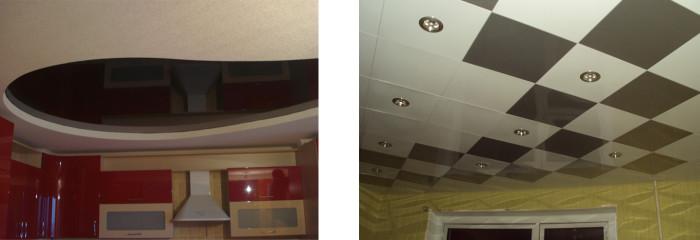 Сравнение натяжного потолка и из гипсокартона