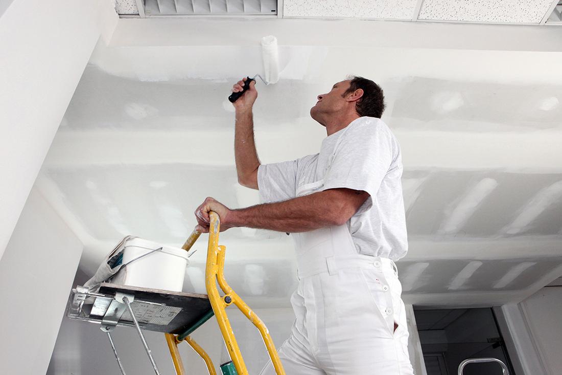 потолок из гипсокартона перед покраской