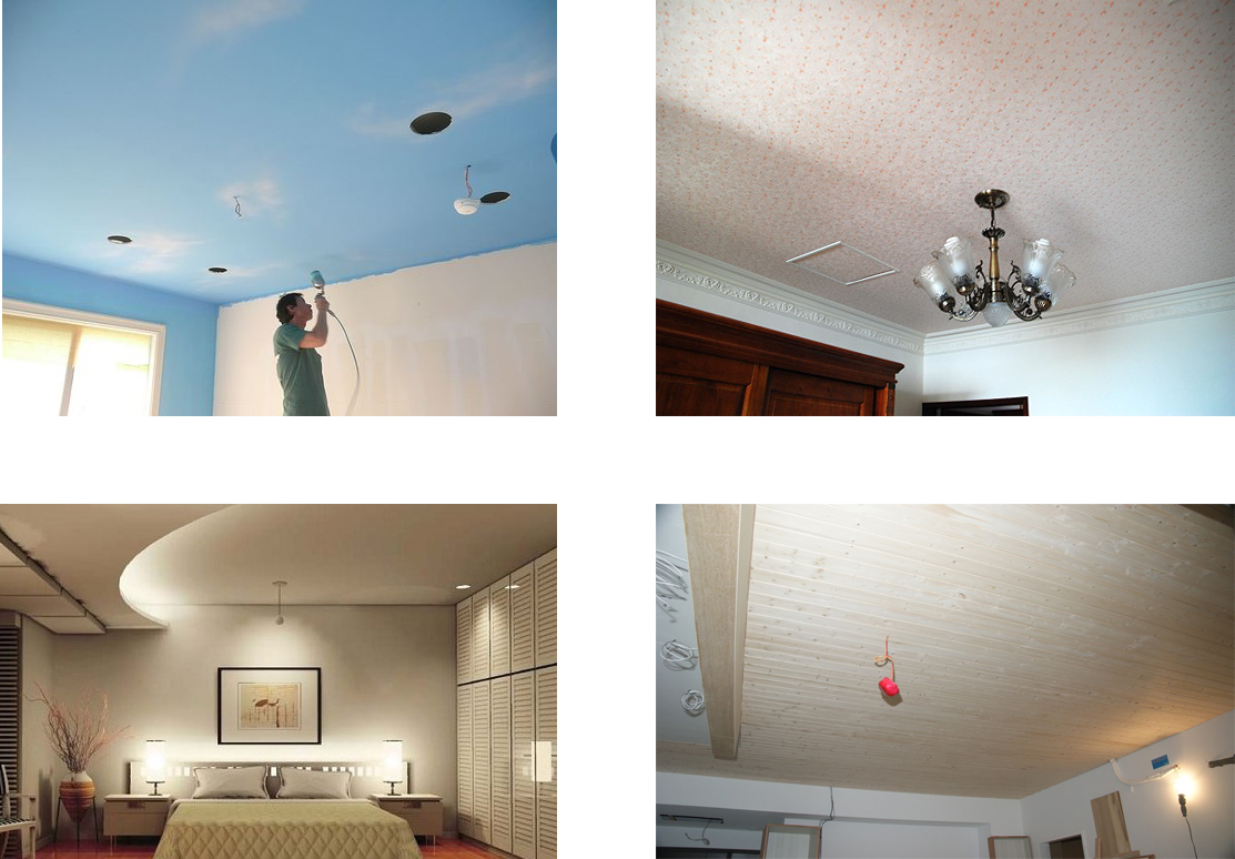 Дизайны потолков в помещениях