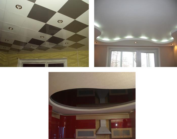 Подвесные потолки своими руками с натяжными потолками
