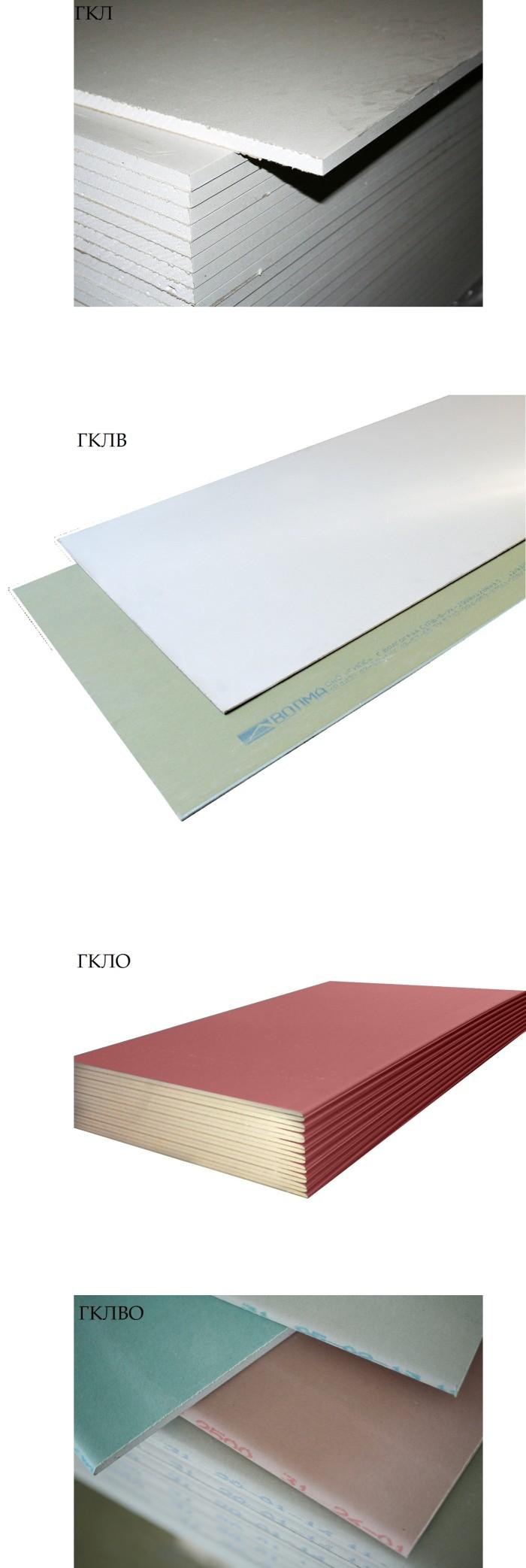 Разновидности листов гипсокартона на потолок