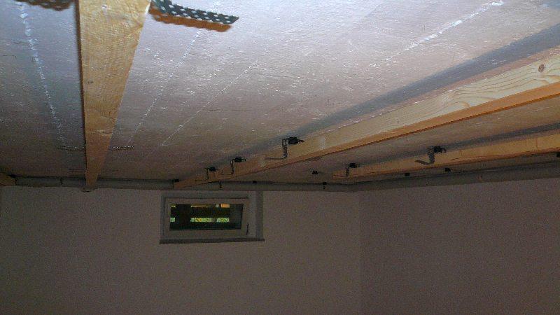 Установка каркаса потолка