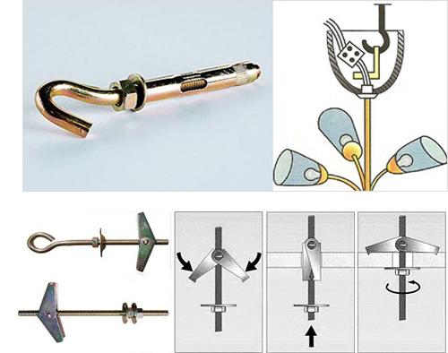Крюк для подвешивания люстры на потолок