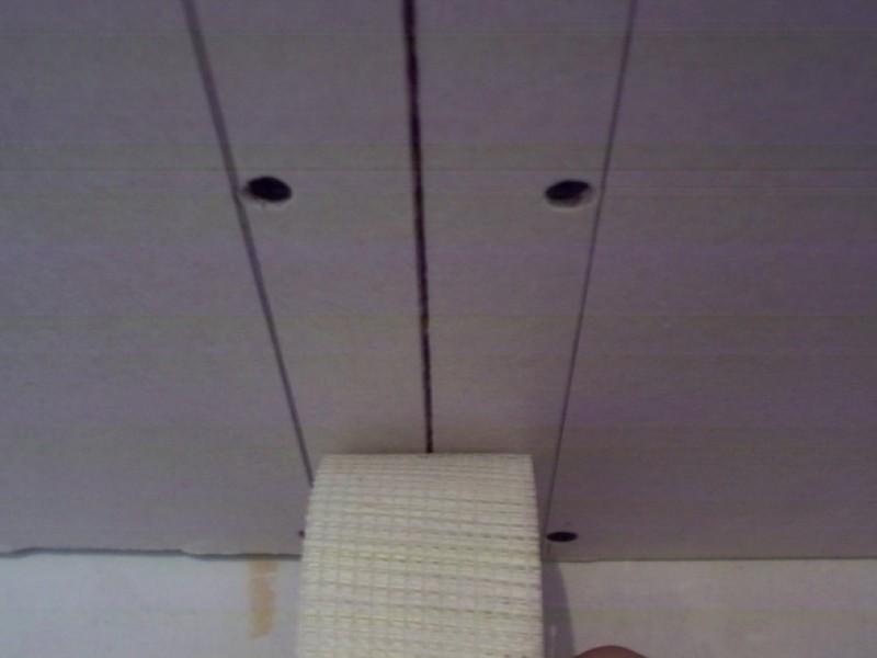 Заделка швов на потолке из гипсокартона - учимся заделывать стыки правильно