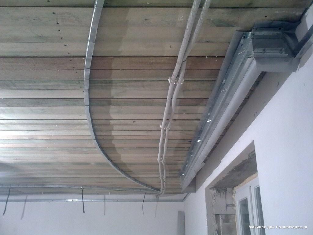 Как сделать изогнутый каркас для потолка