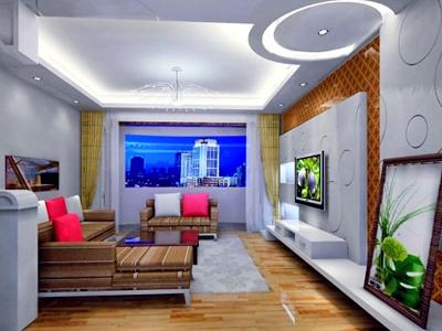 Отличный дизайн потолка гостиной комнаты