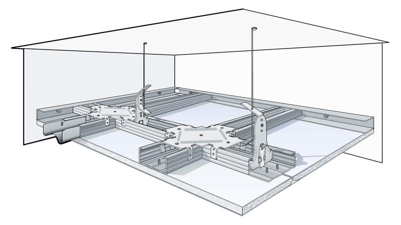 Схема конструкции потолка из