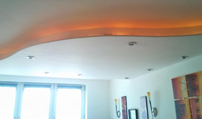 Потолки из гипсокартона пошагово