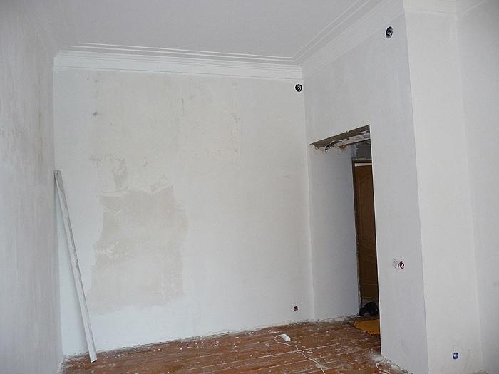 Результат шпаклевки стены