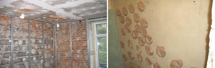 Upevnenie sadrokartónu na stenu pomocou samorezných skrutiek