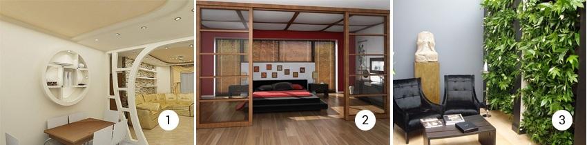 Дизайн декоративных перегородок в квартирах