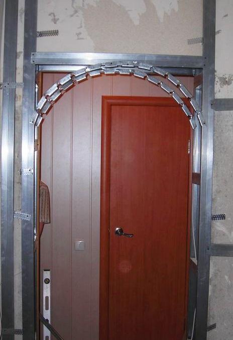 Металлический каркас для арки из гипсокартона