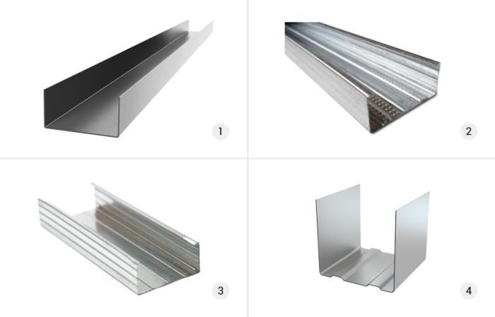 Типы металлических профилей для гипсократона