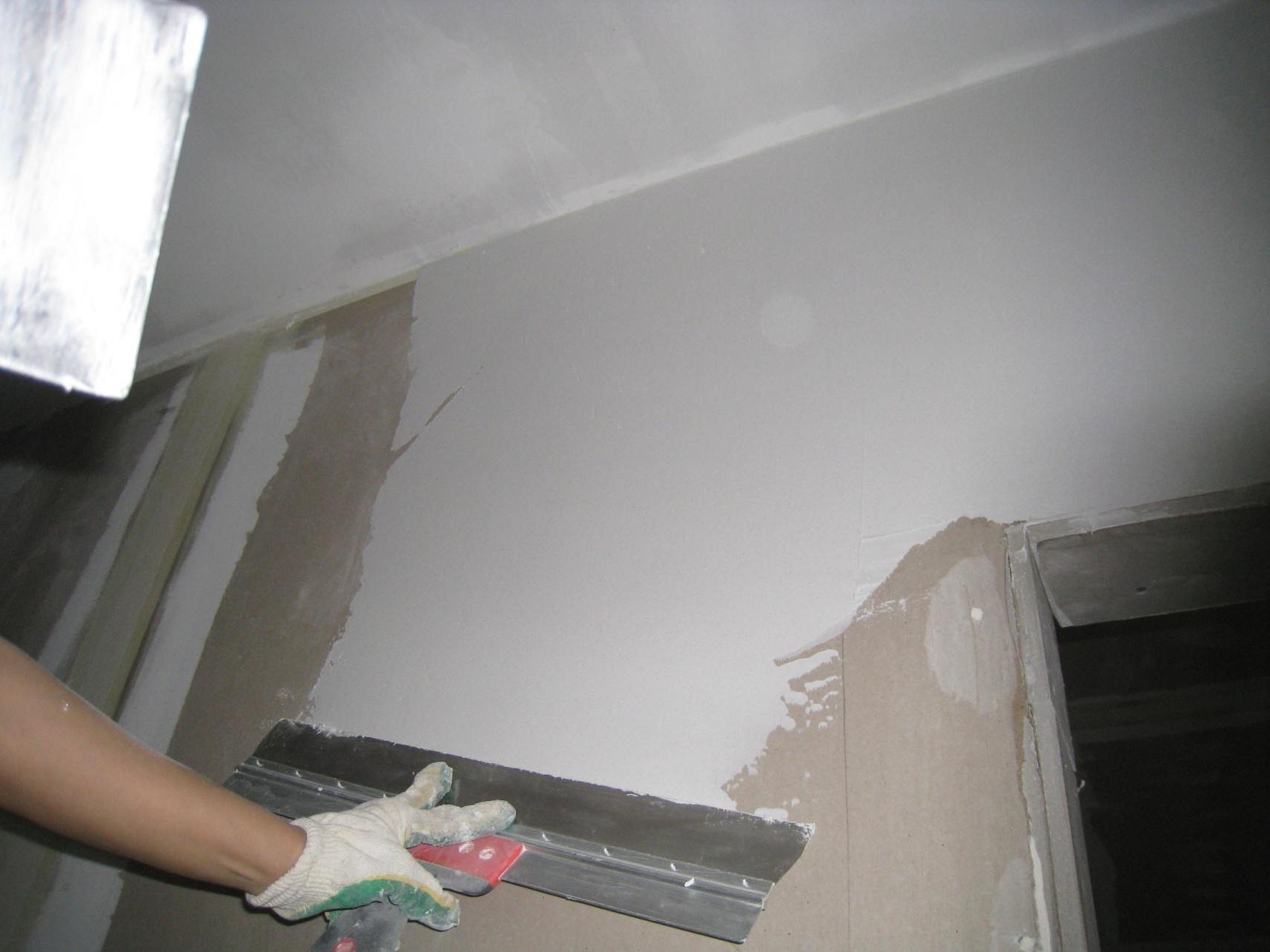 Шпаклевка стен гипсокартон своими руками фото