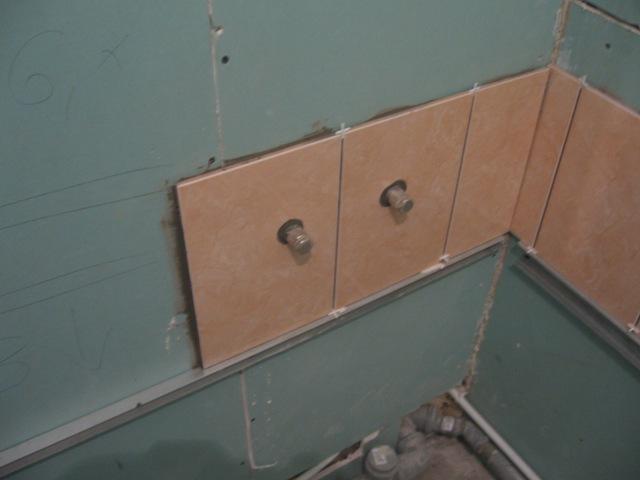 Укладка плитки на влагостойкий гипсокартон
