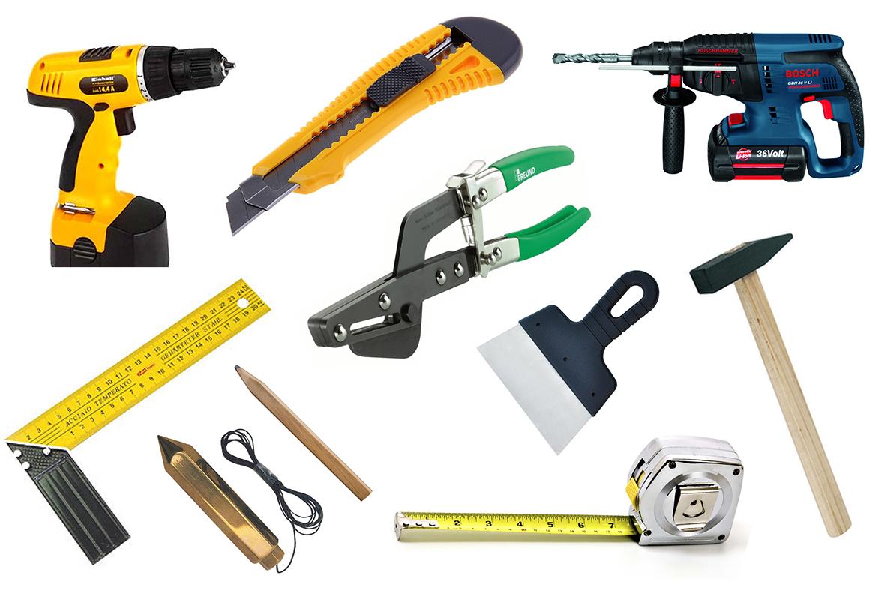 Необходимые инструменты для монтажа