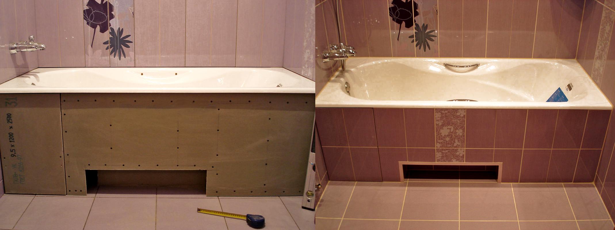 Экраны для ниши под ванной