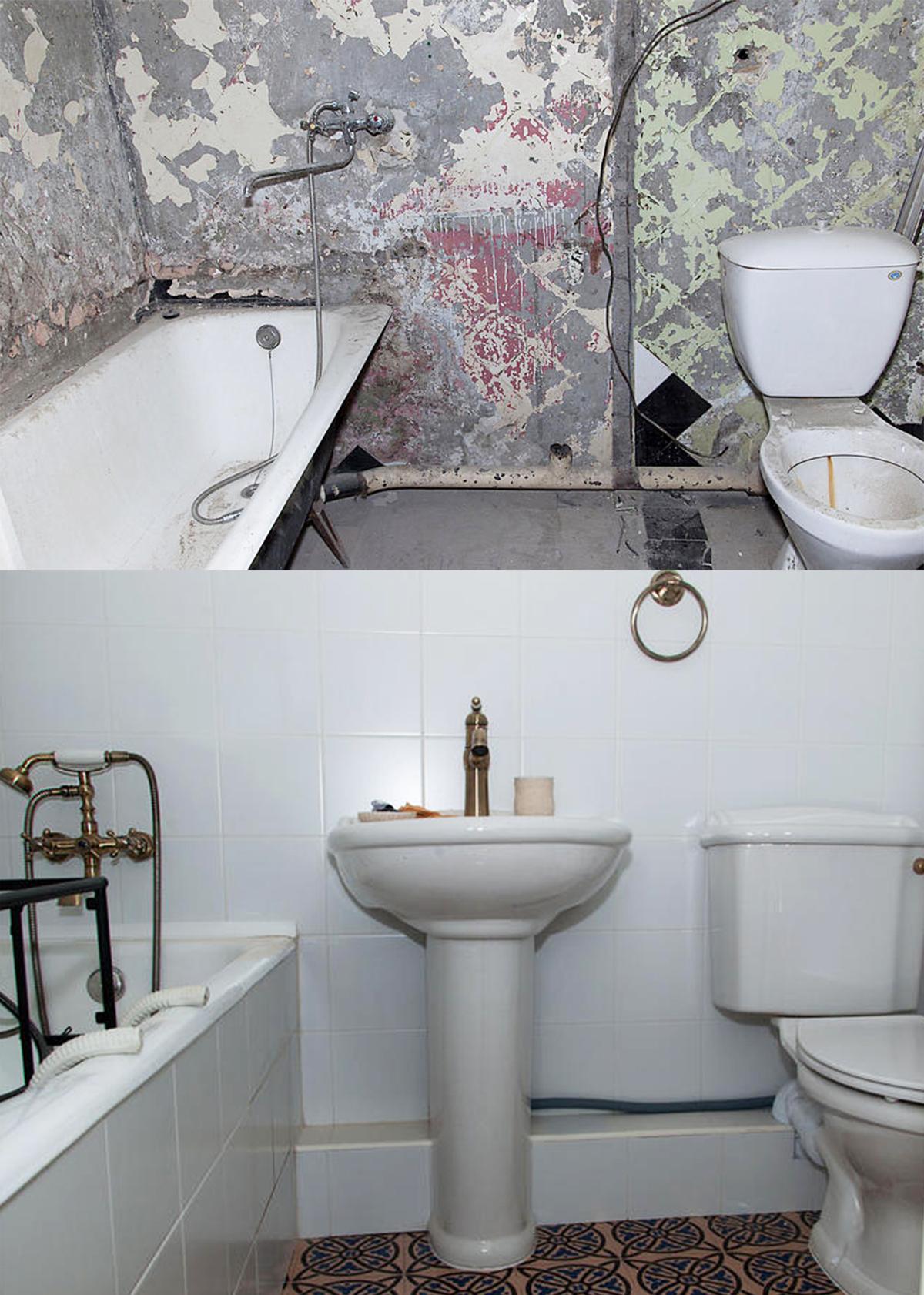 Ванная комната до и после отделки