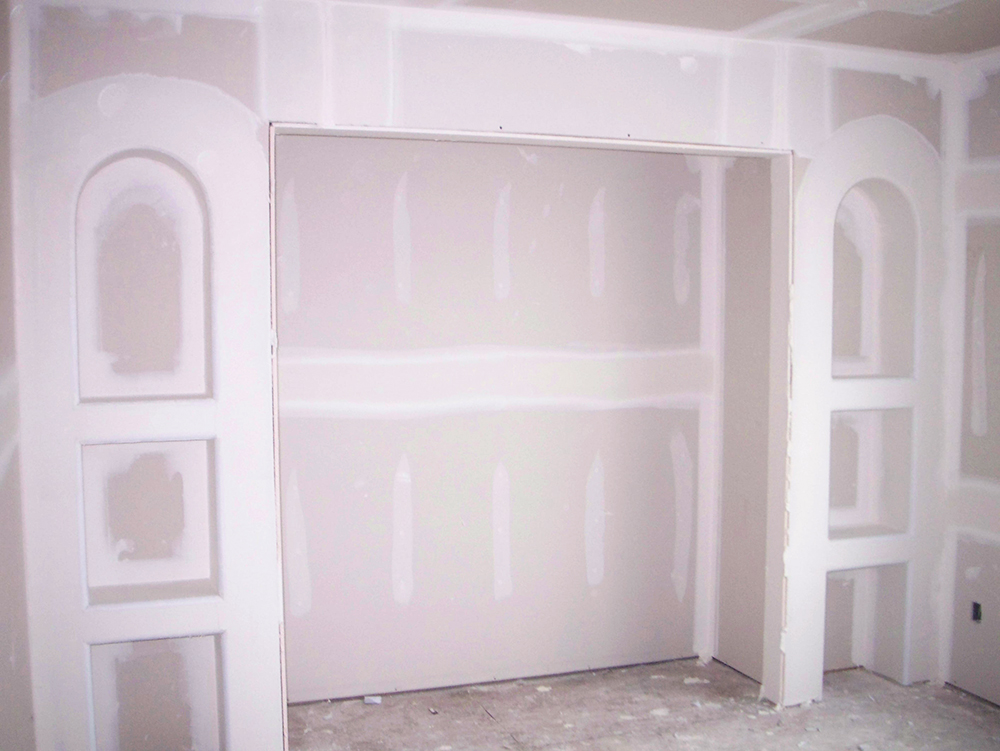 Зашпаклеванная конструкция из гипсоартона