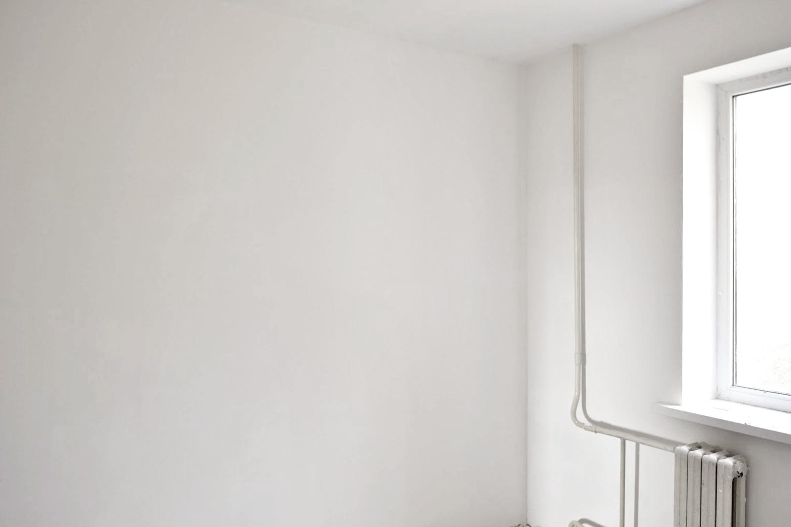 Стены, отделанные шпаклевкой