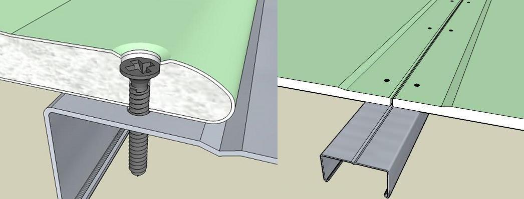 крепление гкл к металлическому каркасу