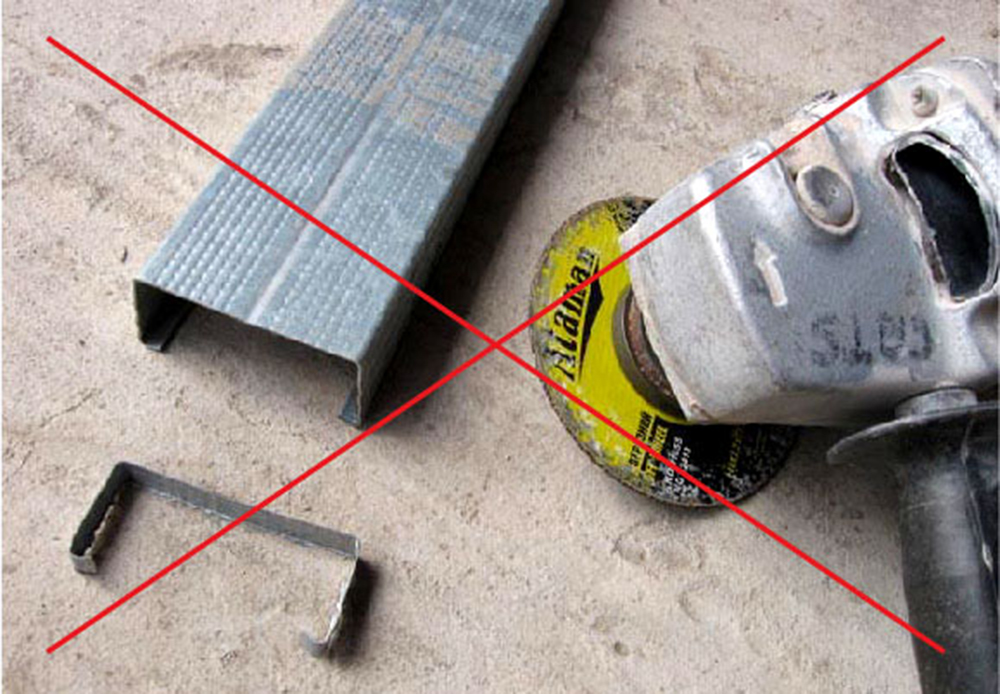 Правила резки металлопрофиля для обрешетки