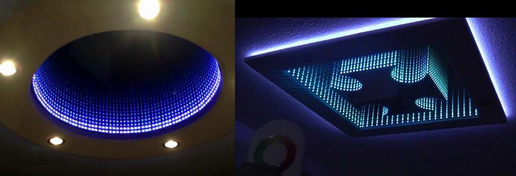 Дизайнерское решение для потолка в виде бесконечности